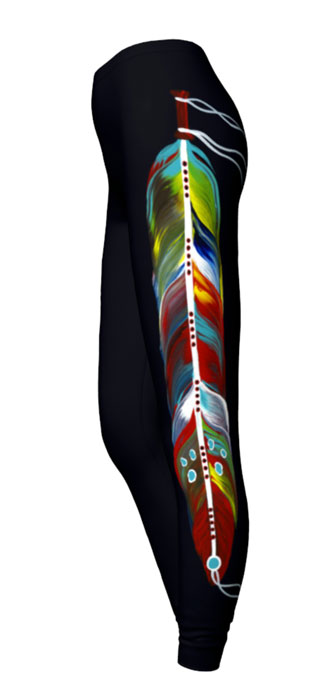 Feather of Many Colors Leggings