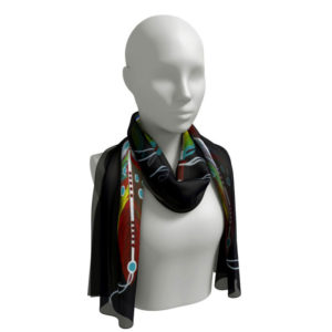 Feather of Many Colors Scarf